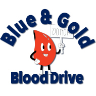 Blue & Gold Blood Drive logo