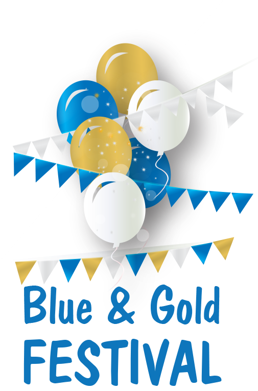 Blue and Gold Festival logo
