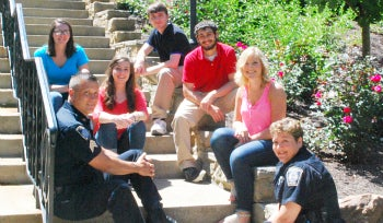 Pitt-Greensburg students with Campus Police