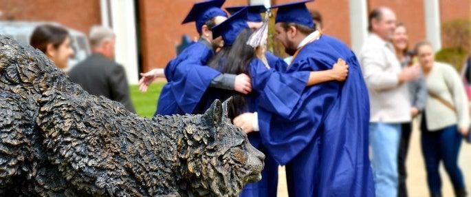 Pitt-Greensburg graduates hugging