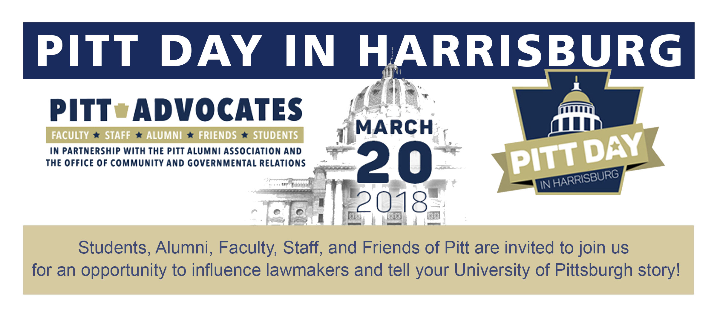 Pitt Day in Harrisburg - March 20, 2018