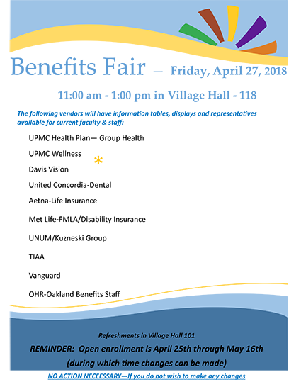 Pitt-Greensburg HR Benefits Fair | University of Pittsburgh