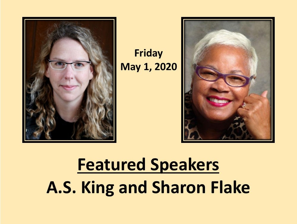 Featured Speakers A.S. King and Sharon Flake
