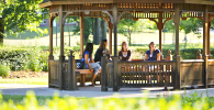 Pitt-Greensburg students in gazebo