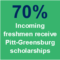 70% Incoming freshmen receive Pitt-Greensburg scholarships
