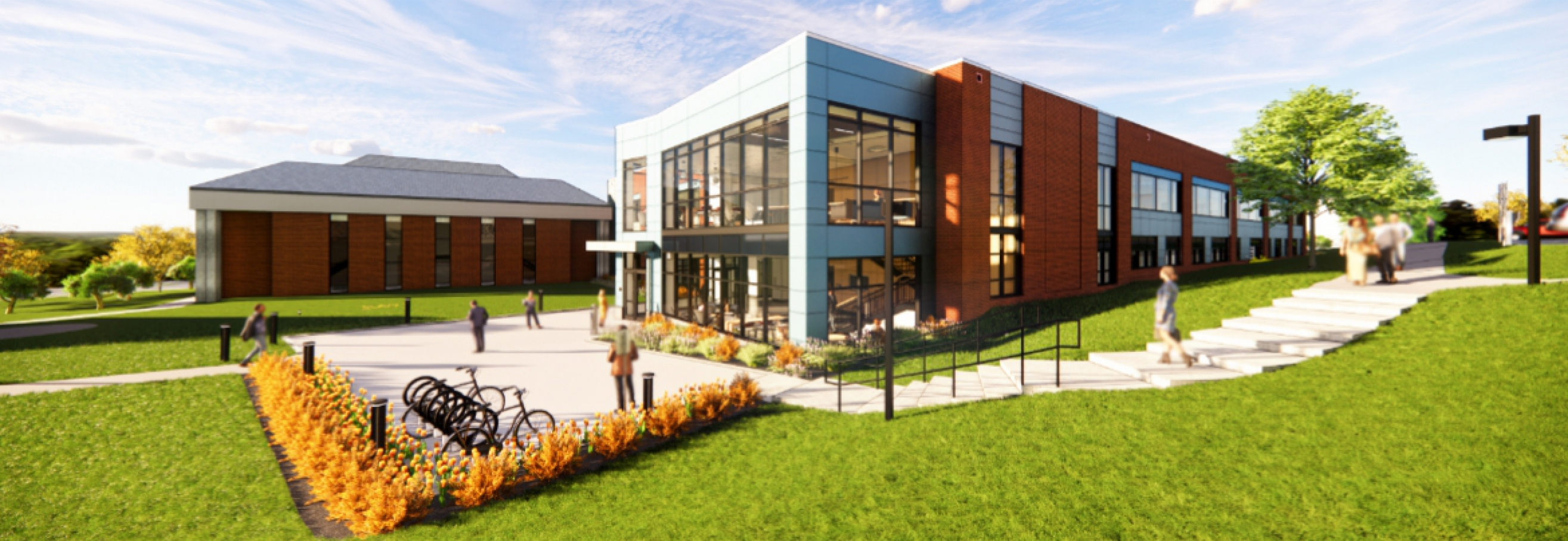 Architectural rendering of Life Sciences building